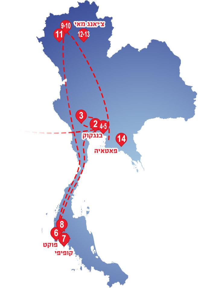מפת-תאילנד